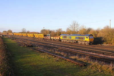 66713 Worting Junction 23/12/19 6X48 Eastleigh to Hoo Junction