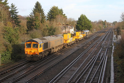 66731 Worting Junction 18/12/19 3Y88 Totton to Totton via Woking with 66717