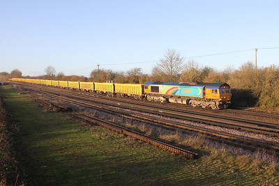 66720 Worting Junction 09/12/19 6M26 Eastleigh to Mountsorrel