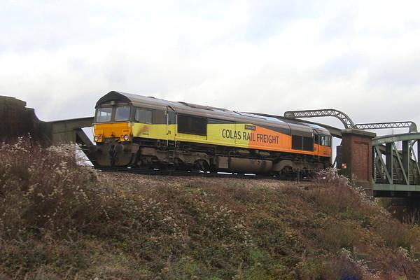 66849 Battledown 06/12/19 0Y12 Eastleigh to Hoo Junction