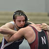 Tribune-Star/Austen Leake<br /> Locked up: Terre Haute North's Gabe Bignell grapples with Northviews' Landon Croy in the 182 pound match of the Gregory Stultz Memorial invitational at Northview on Saturday afternoon.