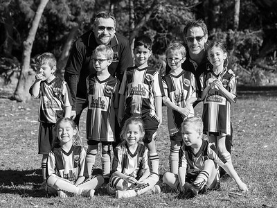 """""""Double Trouble"""" Under Six Soccer Team 2019"""