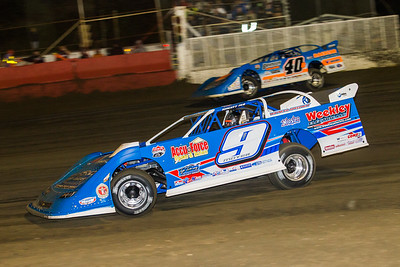 Billy Moyer (9) and Kyle Bronson (40B)