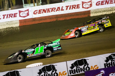 Austin Hubbard (11) and Billy Moyer, Jr. (21JR)