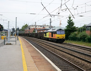 60096 2007/6z46 Barnetby-Willesden DC Sidings passes Hatfield off booked route (Hertford Nth)    09/07/19