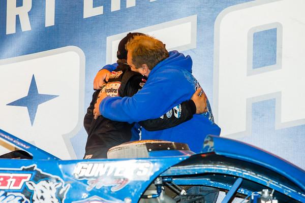 Brandon Sheppard hugs father Steve