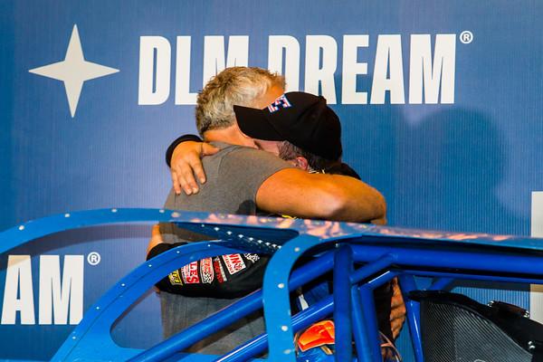Brandon Sheppard hugs Mark Richards