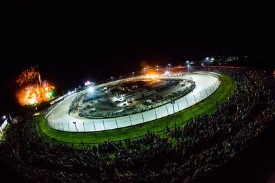 Eldora Speedway four wide salute