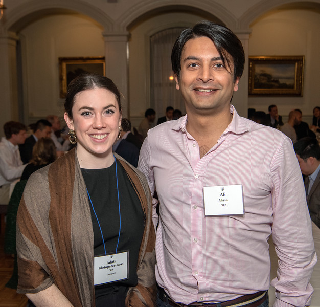 Photo by Mara Lavitt<br /> April 4, 2019<br /> Quinnipiack Club, Church St. New Haven<br /> <br /> Yale Law School's Alumni Connections dinner.