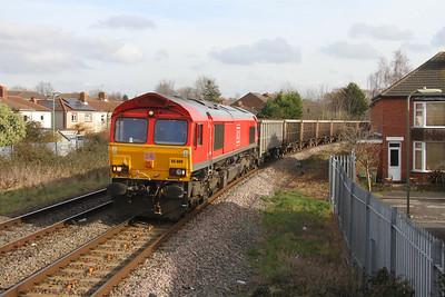 66009 Eastleigh 13/02/19 7V16 Fareham to Whatley