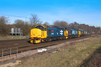 37402 Worting Junction 14/02/19 0Z37 Crewe Gresty Bridge to Eastleigh with 37602 and 37409