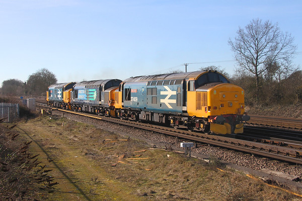37409 Worting Junction 14/02/19 0Z37 Crewe Gresty Bridge to Eastleigh with 37602 and 37402