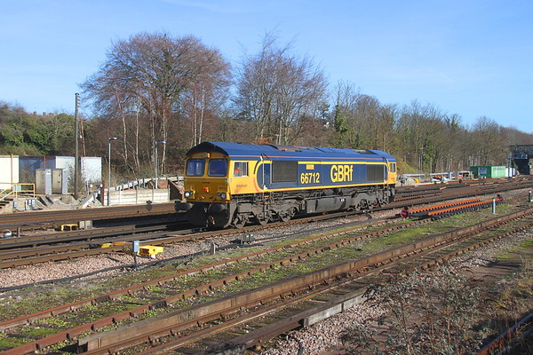 66712 Basingstoke 14/02/19 0Y67 Hoo Junction to Eastleigh (it then went forward to Doncaster as 0Z73 behind 66749)