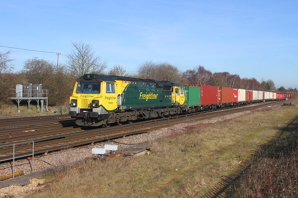 70008 Worting Junction 14/02/19 4O90 Leeds to Southampton