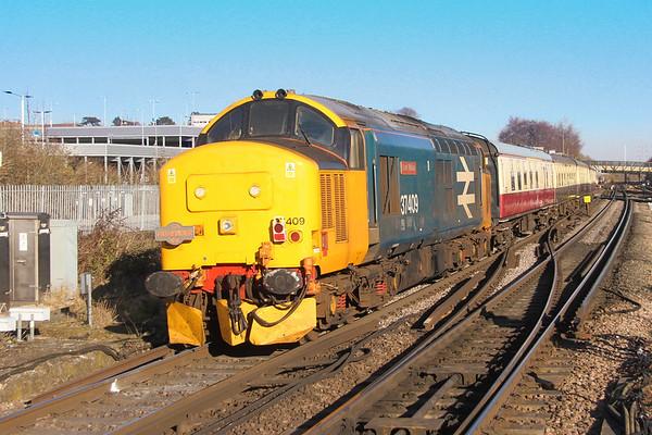 37409 Basingstoke 15/02/19 on the rear of 1Z27 Eastleigh to Dawley Loop