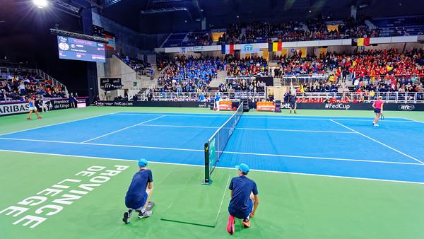 01.04 Court - Fedcup Belgium vs France 2019