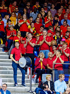 01.02d Belgium supporters - Fedcup Belgium vs France 2019