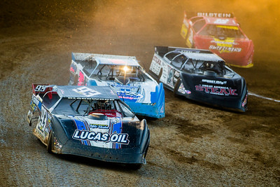 Zak Blackwood (93), Todd Brennan (30), Scott Bloomquist (0) and Tim McCreadie (39)