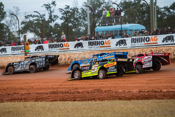 Scott Bloomquist (0), Kyle Bronson (40B), Don O'Neal (5) and Brandon Overton (2)