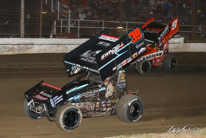 Pennsylvania Sprint Car Speedweek - Grandview Speedway - 39B Christopher Bell, 9 James McFadden