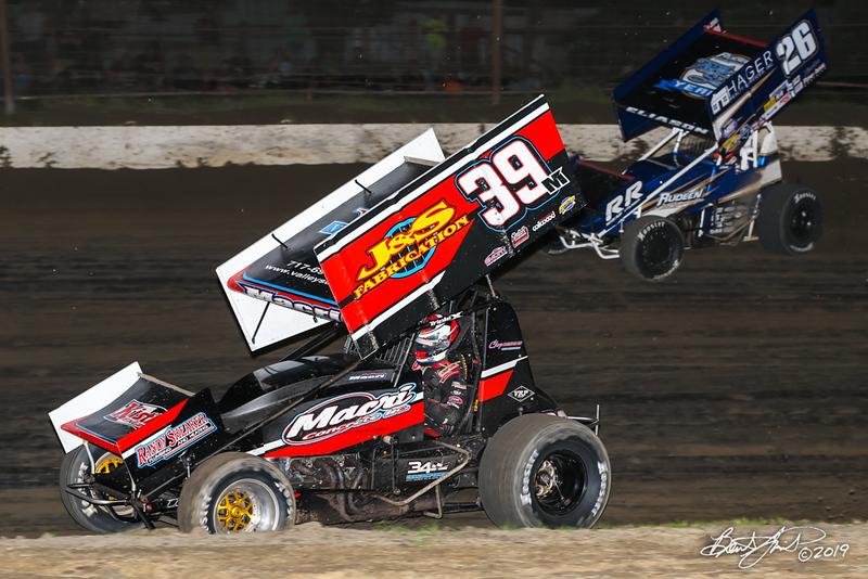 Pennsylvania Sprint Car Speedweek - Grandview Speedway - 39M Anthony Macri, 26 Cory Eliason