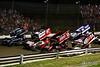 Pennsylvania Sprint Car Speedweek - Grandview Speedway - 4 Wide Salute