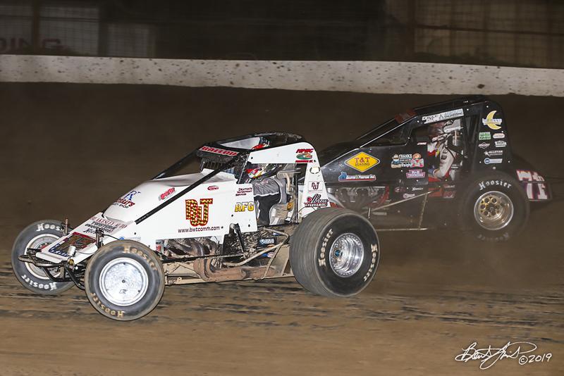 Jesse Hockett Classic - USAC AMSOIL National Sprint Cars - Grandview Speedway - 12 Robert Ballou, 71p Jason McDougal
