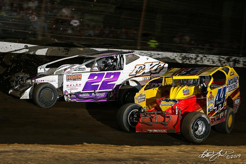Grandview Speedway - 22 Richie Hitzler, 44 Danny Erb