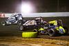 Jesse Hockett Classic - USAC AMSOIL National Sprint Cars - Grandview Speedway - 21p Carmen Perigo, 12 Robert Ballou, 32 Chase Stockon