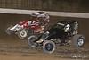 Jesse Hockett Classic - USAC AMSOIL National Sprint Cars - Grandview Speedway - B1 Joey Biasi, 2 Bill Balog