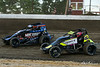 Jesse Hockett Classic - USAC AMSOIL National Sprint Cars - Grandview Speedway - 4 Justin Grant, 8 Kyle Lick