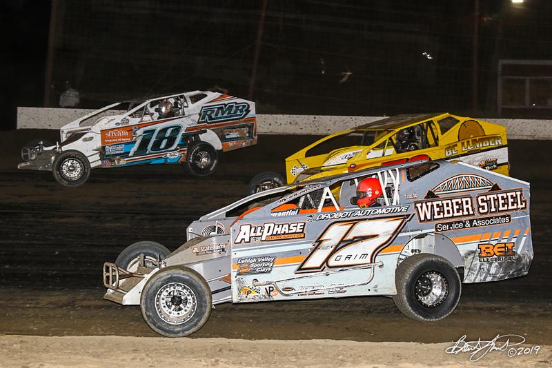 Grandview Speedway - 18 Rick Laubach, 17 Ryan Grim, 78 Briggs Danner