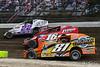 Grandview Speedway - 22 Richie Hitzler, 16 Louden Reimert, 81 Dylan Swinehart