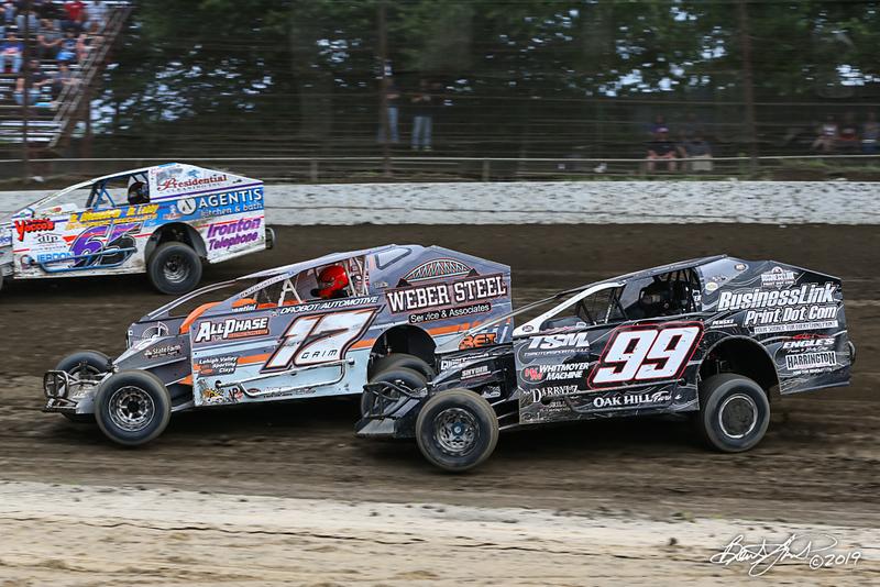 Grandview Speedway - 65 Bobby Gunther Walsh, 17 Ryan Grim, 99 Craig Whitmoyer