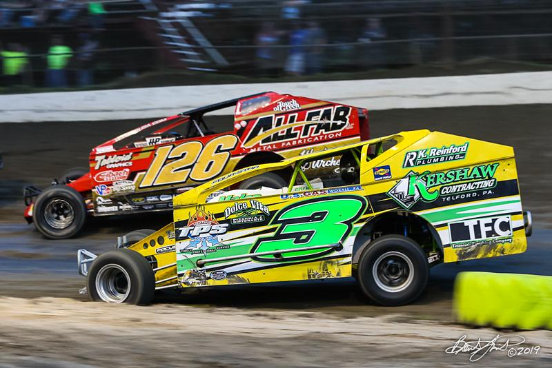 Grandview Speedway - 126 Jeff Strunk, 3 Ron Kline