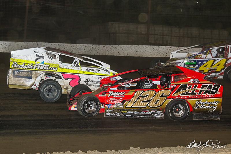 Grandview Speedway - 7 Brett Gilmore, 126 Jeff Strunk