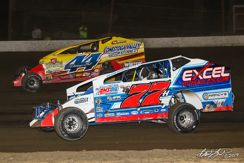 Grandview Speedway - 44 Danny Erb, 77H Jordan Henn