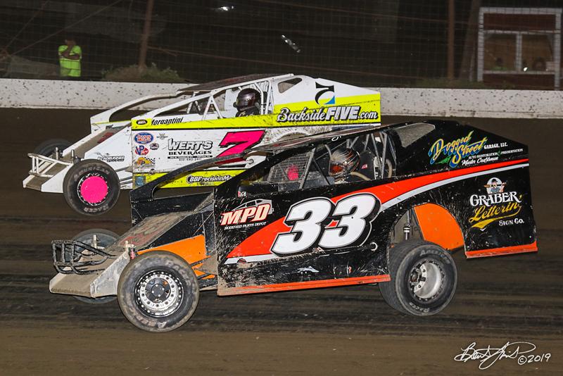 Grandview Speedway - 7 Brett Gilmore, 33 Ray Swinehart