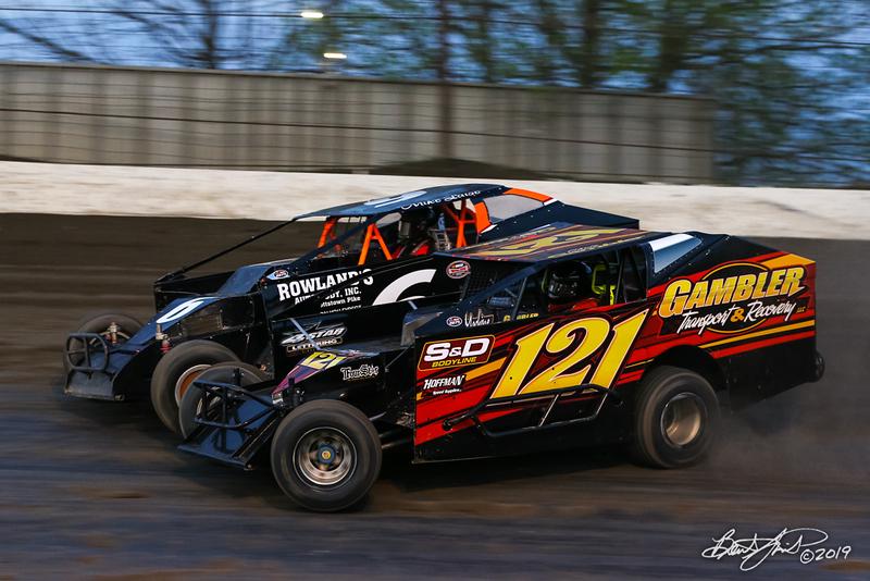 Grandview Speedway - 6 Mike Laise, 121 Chris Gambler