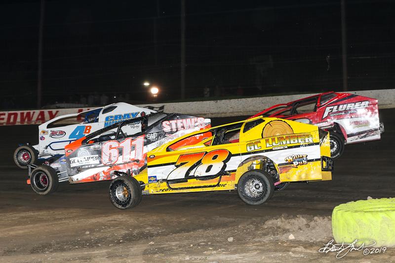 Grandview Speedway - 611 Justin Grim, 78 Briggs Danner
