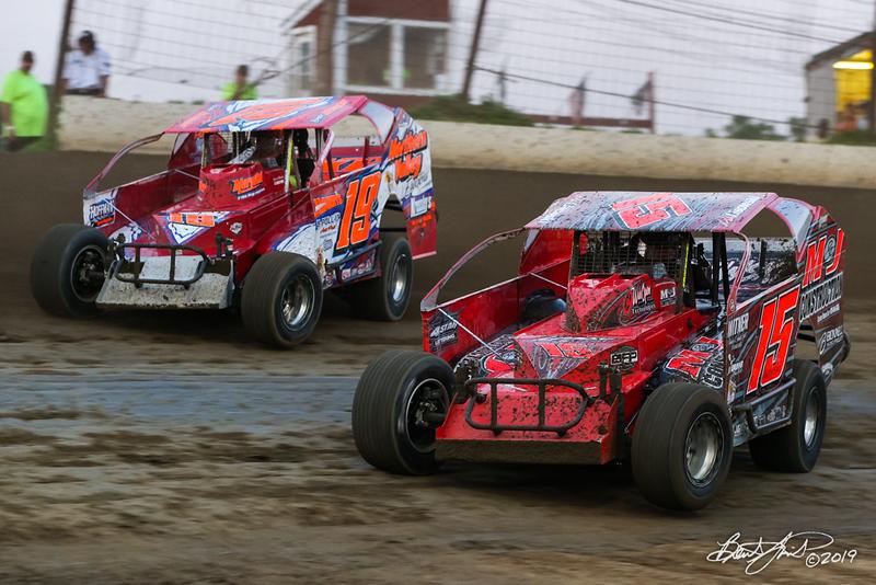 Grandview Speedway - 19K Brett Kressley, 15 Mike Lisowski