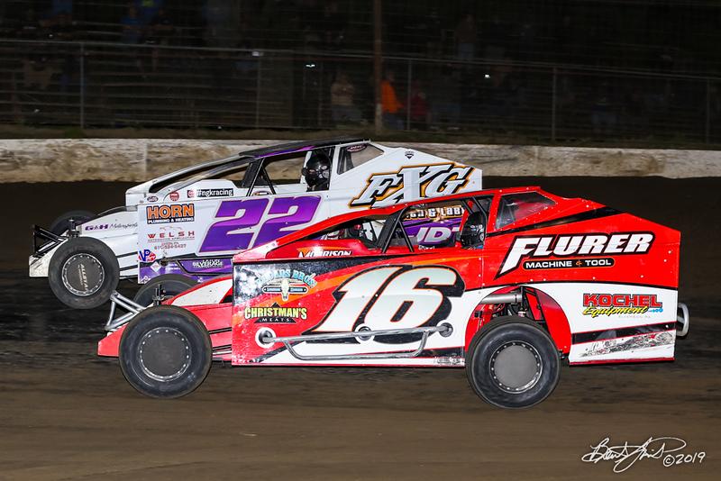 Grandview Speedway - 22 Richie Hitzler, 16 Louden Reimert