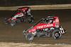 Ken Brenn Midget Masters - NOS Energy Drink USAC National Midget Championship - Grandview Speedway - 27 Tucker Klaasmeyer, 71K Tanner Carrick