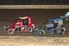 Ken Brenn Midget Masters - NOS Energy Drink USAC National Midget Championship - Grandview Speedway - 7J Shawn Jackson, 39BC Zeb Wise