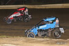 Ken Brenn Midget Masters - NOS Energy Drink USAC National Midget Championship - Grandview Speedway - 27 Tucker Klaasmeyer, 98 Tanner Thorson