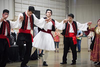 Dancers from Saint George Greek Orthodox Church in Bakersfield.