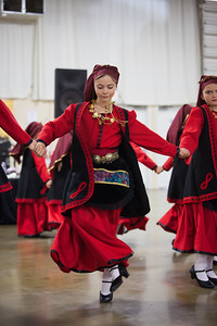 Dancers from Saint Barbara Greek Orthodox Church in Santa Barbara.