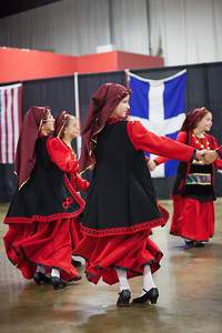 Dancers from Saint Barbara Greek Orthodox Church in Santa Barbara