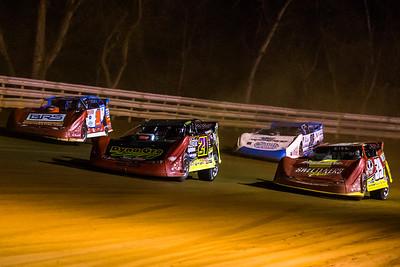 Billy Moyer, Jr. (21JR), Devin Moran (1), Tim McCreadie (39) and Kyle Hardy (36V)