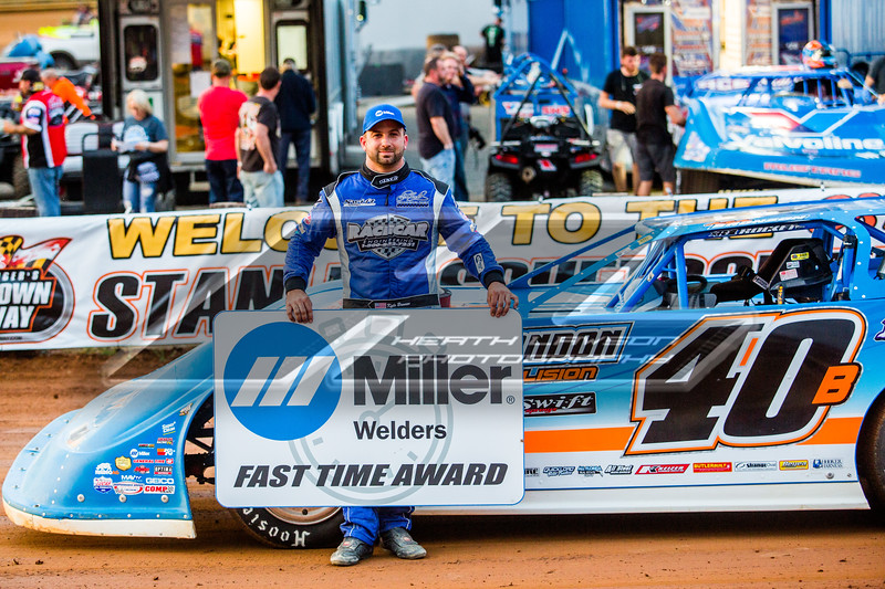 Miller Welders Fast Time Award winner Kyle Bronson
